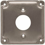 RACO 4 IN. SQUARE EXPOSED WORK COVER FOR 1.406 IN. DIA. RECEPTACLE