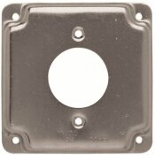RACO 4 IN. SQUARE EXPOSED WORK COVER FOR 20A (1.62 IN. DIA.) RECEPTACLE