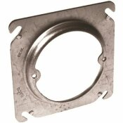 RACO 4 IN. X 1/2 IN. RAISED OPEN SQUARE COVER WITH EARS 2-3/4 IN. O.C