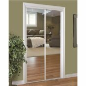 HOME DECOR INNOVATIONS 230 SERIES FRAMED MIRROR BYPASS DOOR, WHITE, 48X80 IN.