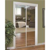 HOME DECOR INNOVATIONS 230 SERIES FRAMED MIRROR BYPASS DOOR, WHITE, 72X80 IN. - HOME DECOR INNOVATIONS PART #: 24-1420