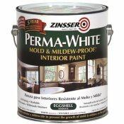 RUSTOLEUM PERMA WHITE MOLD AND MILDEW PROOF INTERIOR PAINT EGGSHELL - RUSTOLEUM PART #: 02771