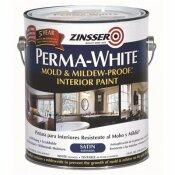 ZINSSER 1 GAL. PERMA-WHITE MOLD AND MILDEW-PROOF SATIN INTERIOR PAINT - ZINSSER PART #: 02711