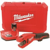 MILWAUKEE M12 12-VOLT LITHIUM-ION CORDLESS COPPER TUBING CUTTER KIT WITH 1.5 AH BATTERY, CHARGER AND HARD CASE - MILWAUKEE PART #: 2471-21