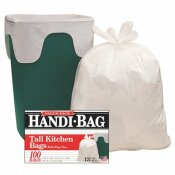 13 GAL. WHITE TRASH BAGS (100-COUNT)