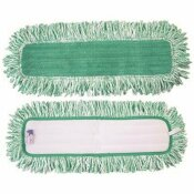 RENOWN 36 IN. MICROFIBER DUST MOP WITH FRINGE GREEN