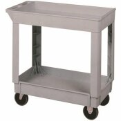 CONTINENTAL HEAVY-DUTY 2-SHELF 400 LBS. CAPACITY 34.375 IN. X 17.5 IN. X 33 IN. PLASTIC UTILITY CART, GREY