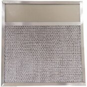 SUPCO AMFCO RANGE HOOD FILTER WITH COVER, 11-3/4 IN. X 11-3/8 IN. X 3/8 IN.