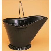 STEEL ASH BUCKET IN BLACK