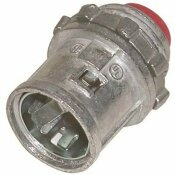 ARLINGTON INDUSTRIES 3/8 IN. ARLINGTON SNAP-2-IT CONNECTOR WITH INSULATED THROAT