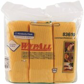WYPALL 15.75 IN. X 15.75 IN. GOLD REUSABLE MICROFIBER CLOTHS (4-PACKS/CASE, 6 WIPES/CONTAINER, 24/CASE)