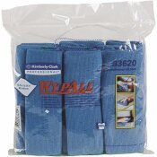 WYPALL 15.75 IN. X 15.75 IN. BLUE REUSABLE MICROFIBER CLOTHS (4-PACKS/CASE, 6 WIPES/CONTAINER, 24/CASE)