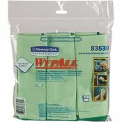 WYPALL 15.75 X 15.75 IN. GREEN REUSABLE MICROFIBER CLOTHS (4-PACKS/CASE, 6 WIPES/CONTAINER, 24 WIPES/CASE)