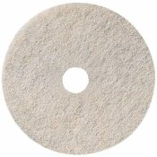 3M RENOWN 27 IN. NATURAL WHITE BURNISHING FLOOR PAD (5-COUNT)