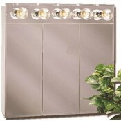 AMERICAN PRIDE TM SERIES 24 IN. BEVELED MIRROR LIGHTED TRI-VIEW MEDICINE CABINET