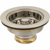 PREMIER HEAVY-DUTY SINK BASKET STRAINER, CHROME PLATED BRASS