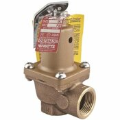 WATTS 3/4 IN. #174A SET AT 50 PSI BRONZE BODY PRESSURE SAFETY RELIEF VALVE