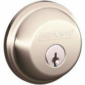 SCHLAGE B60 MAX SECURTY SINGLE CYLINDER DEADBOLT ADJUSTABLE BACKSET IN BRASS - SCHLAGE PART #: B60N 505 KA4C 12-321 10-116